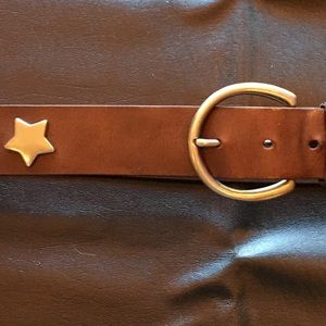 Silver Star Stud Diamond Punch-out Belt!